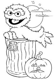 Printable Halloween Coloring Page Sesame Street