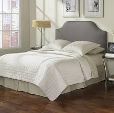 White Headboard King Size by Bedroom Classy Design For Bedroom Decoration With Grey Fabric