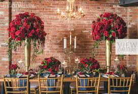 Rich Red Gold Wedding Ideas
