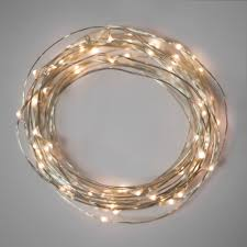 battery operated lights warm white 40 led wire 2 sets