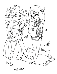 Lisa Frank Characters Coloring Pages