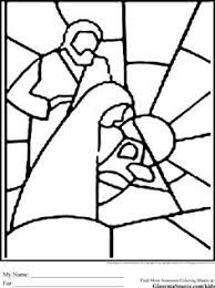 Christmas Coloring Pages Stained Glass