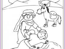 The Good Samaritan Coloring Page Super Cool 17 Kids Korner BibleWise