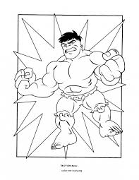 Free Hulk From Super Hero Squad Coloring Page
