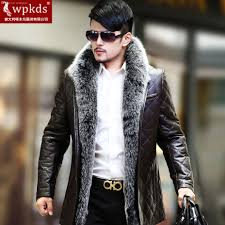 2017 fall wpkds new silver fox fur sheep skin leather leather