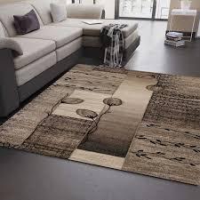 teppich beige braun mit blumen und pflanzen muster ebay