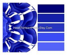 royal blue wall art cobalt blue floral abstract wall decor navy