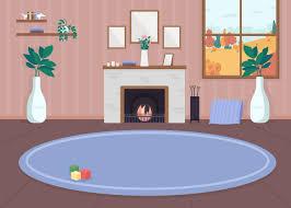 gemütliches wohnzimmer mit kamin 1735970