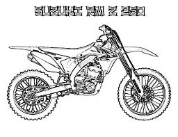 Dirt Bike Suzuki RM Z 250 Coloring Page