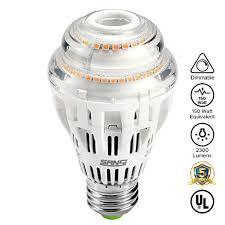 17w 150 watt equivalent a19 dimmable led light bulb 2300 lumens
