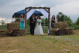 Rustic Wedding Arch Arbor Log Wood Tree Slice Cabin Decor Large Country Outside