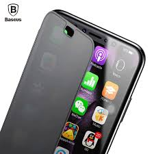 Baseus Slim Flip Case For iPhone X 360 Full Body Protective TPU