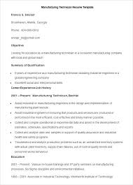 Resume Skills Examples Manufacturing With Sample Technician Template To Prepare Perfect 2018 536