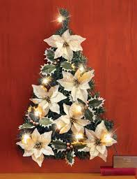Poinsettia Christmas Tree Wall Decoration