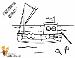 Fishing Boat Coloring Sheet