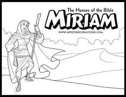 The Heroes Of Bible Coloring Pages Miriam
