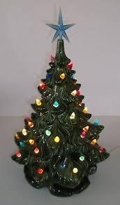 Vintage 16 Retro Ceramic Lighted Christmas Tree Beautiful