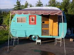 Vintage Camper Interior Of 1953 Field And Stream