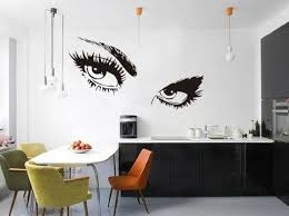Kitchen Wall Decal Modern Unique Female Eyes