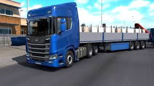 100 Roadstar Trucking ETS 2 Scania R500 With Double Dropside Trailers YouTube