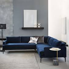 stairs andes l shaped sectional stone twill west elm home