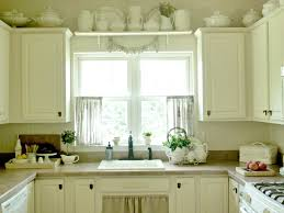 Jcpenney Curtains For Bay Window by Country U Shaped White Kitchen Set Focused On Half Kitchen Curtain
