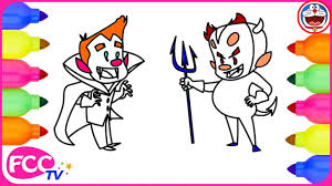How To Draw For Kids Halloween Costumes Coloring Pages Easy Drawing