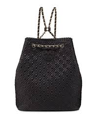 Tory Burch Marion Quilted Leather Backpack Black