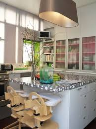 Quirky Color Texture In A Sleek Modern Kitchen