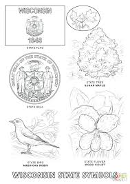 Click State Symbols Coloring Pages New York Flag Page Sheet
