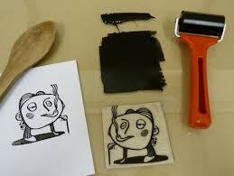 Hand Printing A Linocut