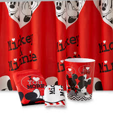 Mickey Mouse Decorative Bath Collection by Perfect Mickey And Minnie Mouse Shower Curtain In Beautiful Mickey