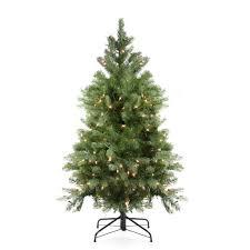 Balsam Fir Artificial Christmas Trees by 4 Ft Pre Lit Noble Fir Full Artificial Christmas Tree Clear Lights