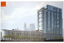 Piedmont Park Atlanta Parking Deck by Construction Under Way On New High Rise Apartment Tower
