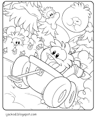 Best Club Penguin Coloring Pages 86 With Additional Books