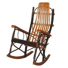 100 Jumbo Rocking Chair Hickor Rocker With Oak Arms Amish Oak Furniture Mattress Store