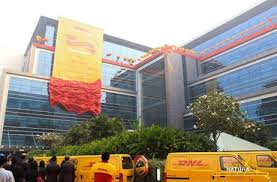 bureau dhl dhl country office launch aerial rigging by natura india