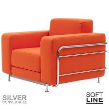 canapé convertible une personne silver fauteuil convertible en lit 1 place softline