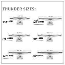 100 Skateboard Truck Sizes Thunder Jamie Foy Sky High 151 Hi 875 Pro S
