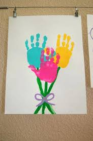For Kids One Little Project Simple Art Crafts Hand Print Flower Craft With Paper Ages 8 12