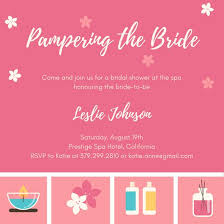 Spa Icons Bridal Shower Invitation