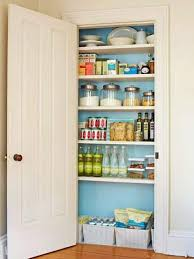 Free Up Cluttered Kitchen Cupboards By Creating A Storage Area In Nearby Hall Closet With Adjustable Shelves