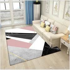 großhandel nordischer geometrischer rosa schwarzer marmorteppich und teppiche für schlafzimmer wohnzimmer boden matten küchen matten teppich