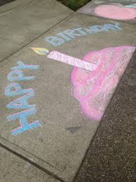 Happy Birthday Sidewalk Chalk | Sidewalk Chalk | Pinterest ...