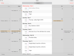 How to display your Calendar events as list view in iOS