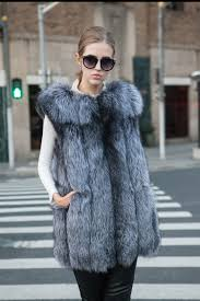click to buy u003c u003c arlene sain fox fur vests for women genuine real