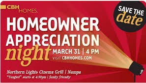 Save the Date Homeowner Appreciation Night at Northern Lights in