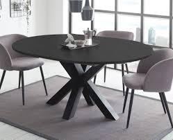esstisch schwarzstahl 110x78 cm big system rund 110 auszug