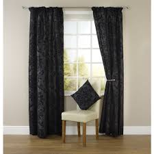 Teal Blackout Curtains Pencil Pleat by Wilko Pencil Pleat Damask Curtains Black 228cm X 228m At Wilko Com