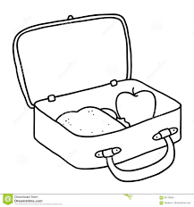 Lunchbox Clipart Outline Lunch Box Illustration Megapixl Jpg Black And White